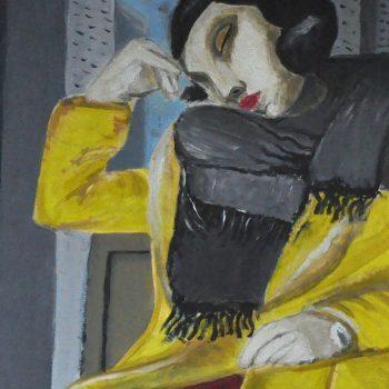 mal. Joanna Kuźmicz, cykl: O czym myśli kobieta w żółtym płaszczu
